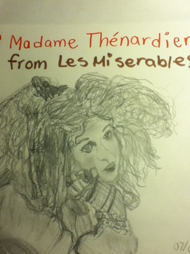 Madame Thenardier Sketch/Drawing