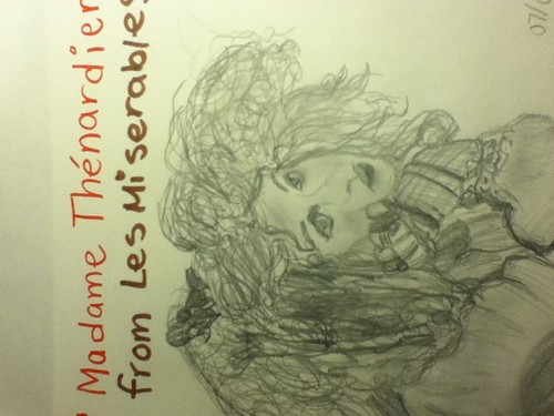 Madame Thenardier sketch/drawing :)