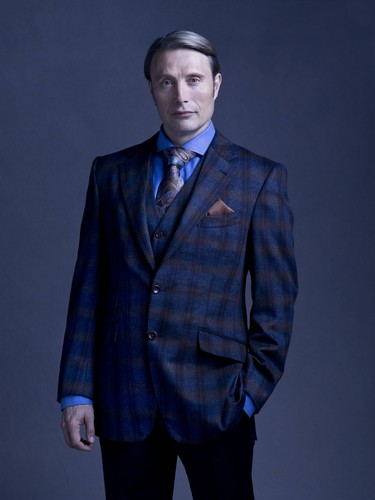 Hannibal TV Series wallpaper with a business suit, a suit, and a double breasted suit called Mads Mikkelsen as Dr. Hannibal Lecter