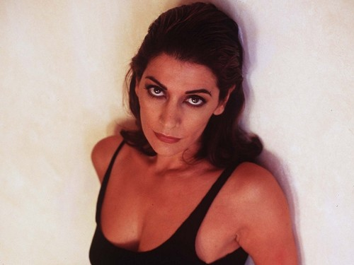Marina Sirtis wallpaper probably with attractiveness, a bustier, and a brassiere entitled Marina Sirtis
