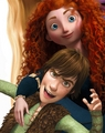 Merida, Hiccup and Rapunzel's hair