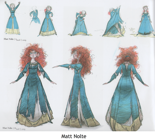 Merida - Legende der Highlands Hintergrund possibly with a polonäse, polonaise called Merida concept art my Matt Nolte