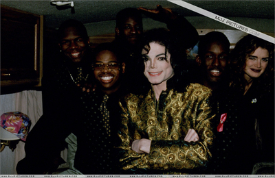 Michael With Brooke Shields And Boyz II Men
