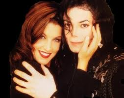 Michael Jackson Hintergrund with a portrait entitled Michael And First Wife, Lisa Marie Presley