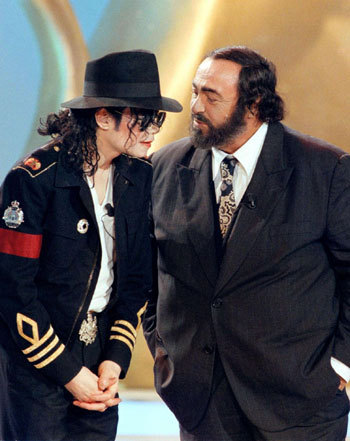 Michael And Legendary Opera Star, Luciano Pavaratti