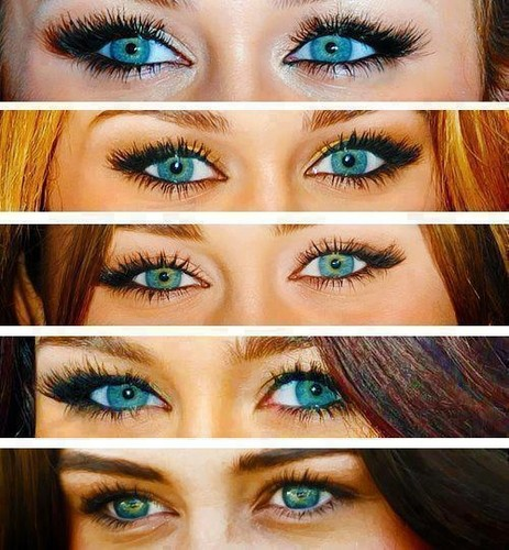 Miley's beautiful eyes