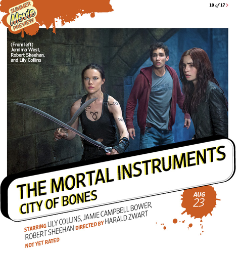 "New ""The Mortal Instruments: City of Bones"" Promotional Still [EW Magazine]"