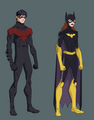 Nightwing and batgirl suit change