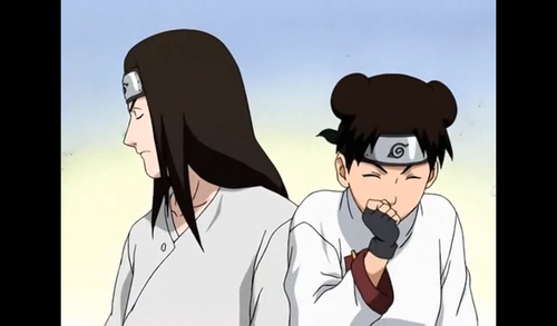 Offended Neji and Fun-making Tenten