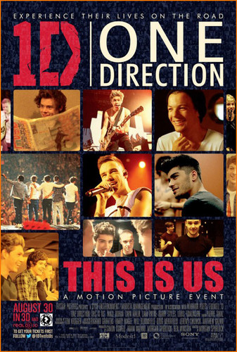 sinema karatasi la kupamba ukuta probably with anime called One Direction This is Us tamasha Poster