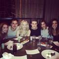 Paul Wesley, Torrey DeVitto, Candice Accola and Joe King in Las Vegas