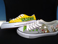 Plants vs. Zombies hand painted low top shoes