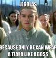 Prince legolas Tiara - legolas-greenleaf fan art