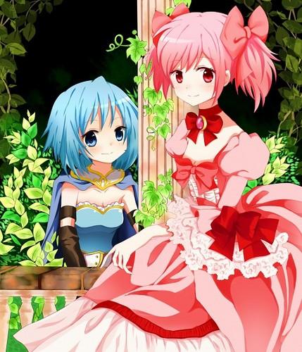 Princess Madoka and her knight Sayaka