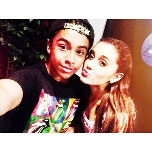 Princetyboo ran into Ariana Grande, 2day!!!!!! XO :D ;D <3 ;* : { )