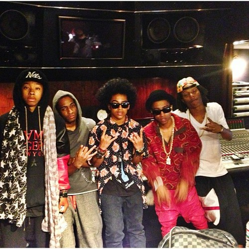 Princetyboo is with liltwist & MB in studio flow!!!!! B) :D XO : { ) <3 ;*