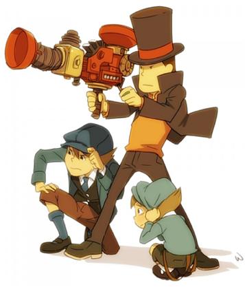 Professor Layton, Luke Trition and Future Luke