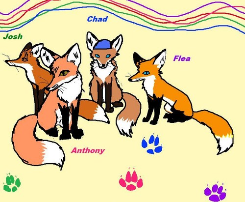 Red Hot Chili Peppers wallpaper probably with anime entitled Red Hot Foxes
