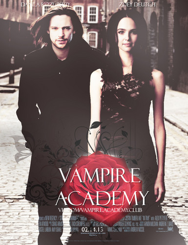 The Vampire Academy Blood Sisters Hintergrund called Rose and Dimitri movie fanmade poster