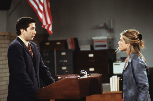 Rachel Green wallpaper possibly containing a business suit and a well dressed person called Ross & Rachel