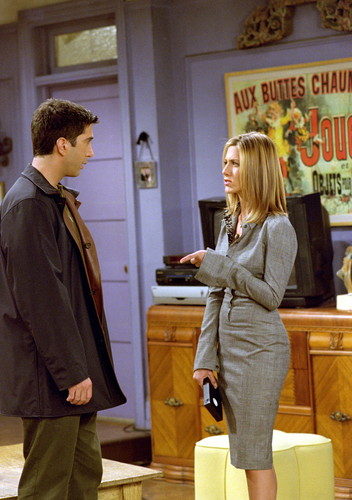 Rachel Green wallpaper containing a well dressed person titled Ross & Rachel