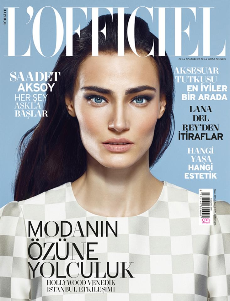 Saadet Aksoy on the cover of L'Officiel Magazine April 2013