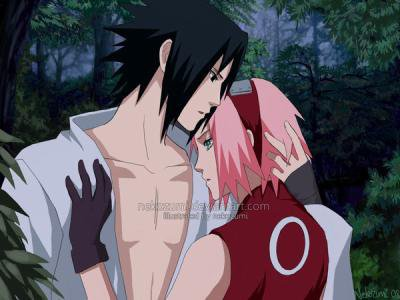 naruto shippuden wallpaper entitled Sakura and Sasuke