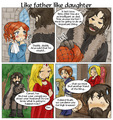 Sansa and Ned  - house-stark fan art