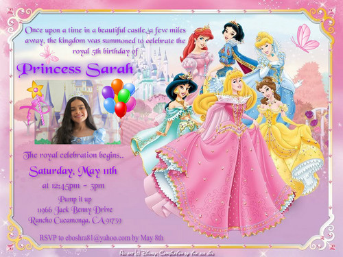 Sarah's final bday invitation