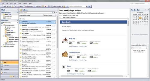 Screenshot for Microsoft Outlook 2007 for Windows Vista