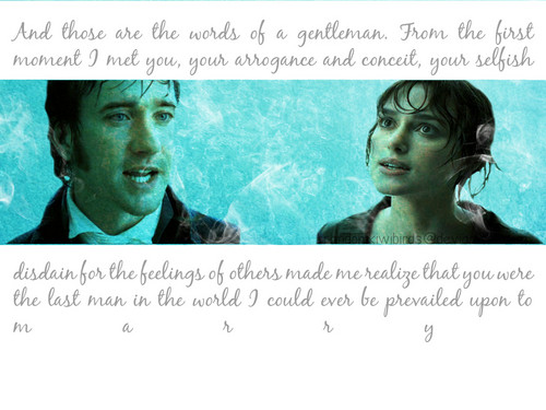 Pride and Prejudice wallpaper probably containing anime entitled Selfish Disdain
