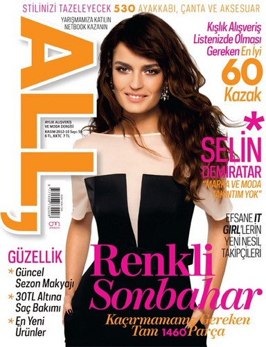 トルコの俳優・女優 壁紙 containing a portrait called Selin Demiratar on the cover of All Magazine