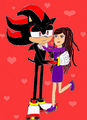 Shadow and Rachel Savaya - shadow-the-hedgehog photo
