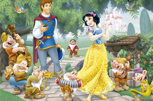 Snow White and the Seven Dwarfs wallpaper entitled Snow White and Prince