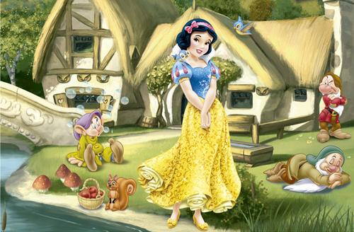 Snow White karatasi la kupamba ukuta titled Snow White