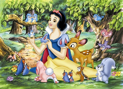 Snow White and the Seven Dwarfs wallpaper possibly with anime titled Snow White