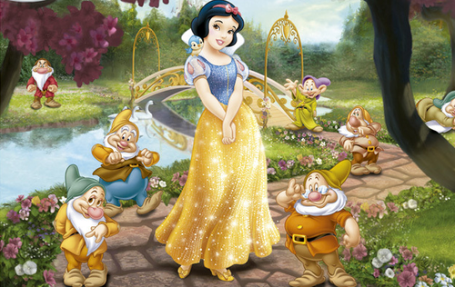 Snow White and the Seven Dwarfs wallpaper possibly containing a bouquet entitled Snow White