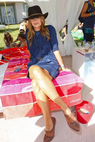 Stana Katic   LACOSTE LIVE 4th Annual Desert Pool Party