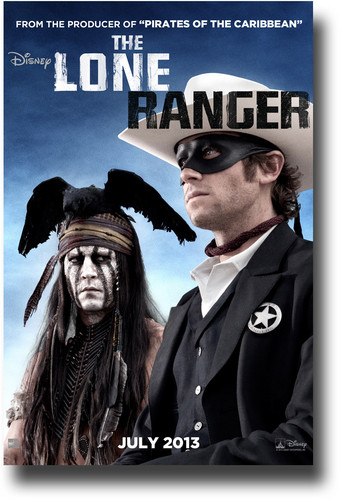 sinema karatasi la kupamba ukuta containing anime titled THE LONE RANGER Posters 2013