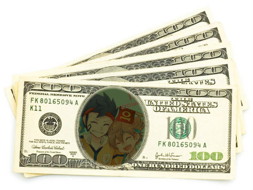 Tenma and Tsurugi dollars :3