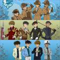 The Gosho Boys in Different Designated Outfits - detective-conan photo