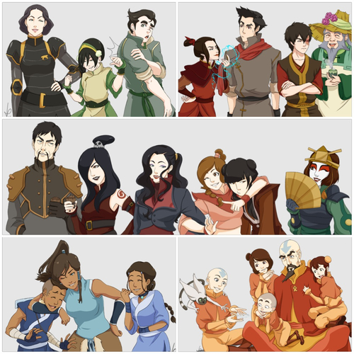 Avatar: The Legend of Korra wallpaper entitled The Last Airbender and The Legend of Korra Characters