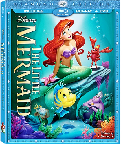 The Little Mermaid: Diamond Edition Blu-Ray Cover