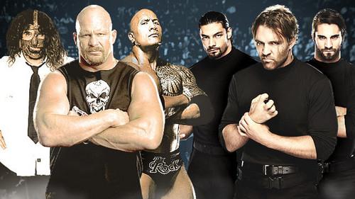 The Shield,Mankind,Steve Austin,The Rock