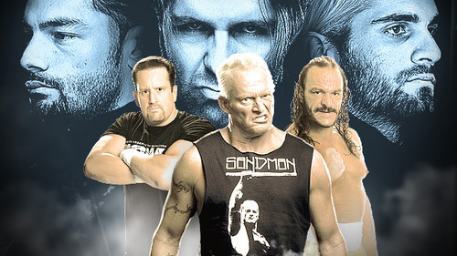 The Shield (WWE) wallpaper entitled The Shield vs Tommy Dreamer,Sandman,Sabu