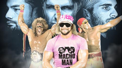 The Shield (WWE) wallpaper called The Shield vs Ultimate Warrior,Macho Man,Hulk Hogan