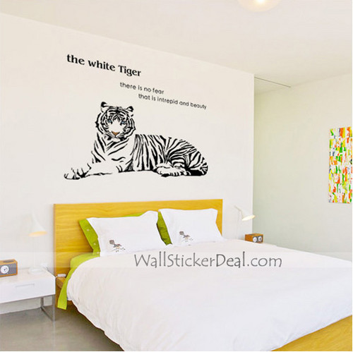 The White Tiger Animals Wall Stickers
