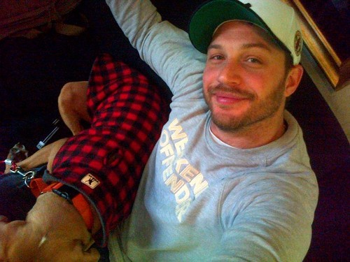 Tom Hardy & Cass the Dog x