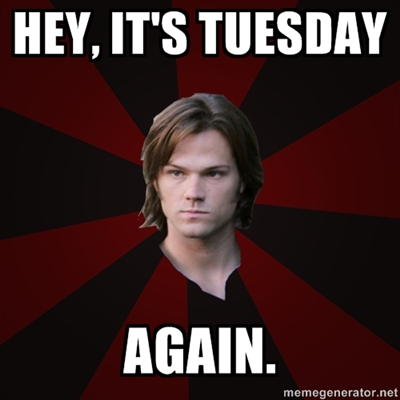 Supernatural wolpeyper possibly with anime titled Tuesday...