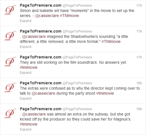 Tweets from the TMI panel at the LA Times Festival of বই [Movie Hints!]